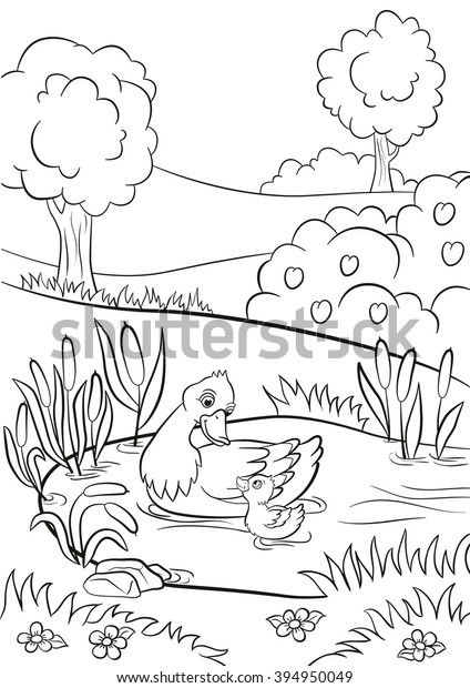 Cute Duck Coloring Pages | Fish coloring page, Animal coloring ... | 620x424