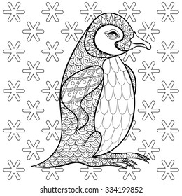 coloring pages king penguin among 260nw
