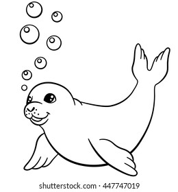 Seal Coloring Images Stock Photos Vectors Shutterstock