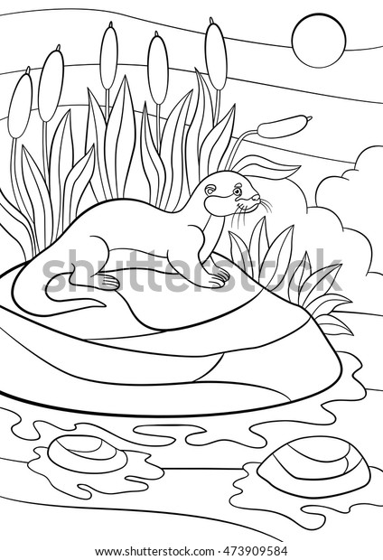 God Stopped the River Coloring Page | 620x424