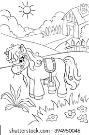coloring pages little cute pony 260nw