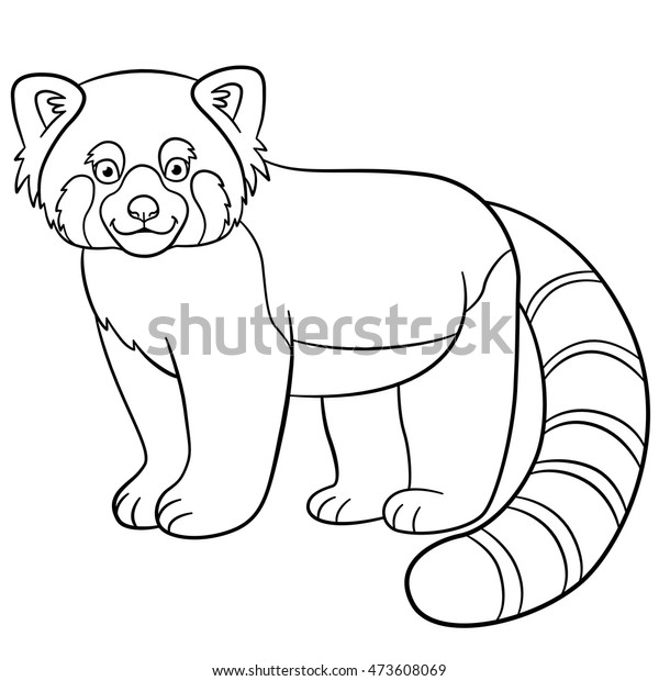 View Cute Red Panda Coloring Page