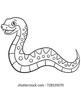 Snake Cartoon Coloring Pages Images Stock Photos Vectors Shutterstock