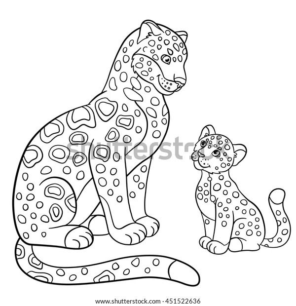 coloring pages mother jaguar her 600w