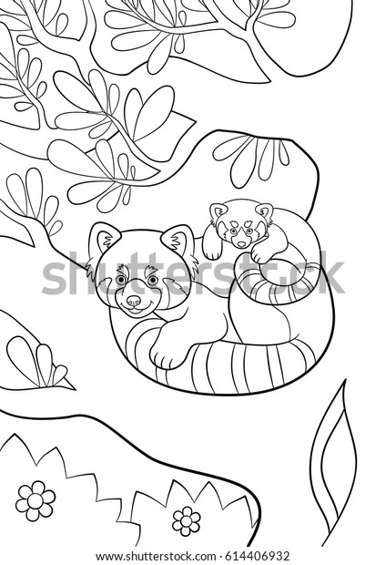 Cute Baby Animal Coloring Pages Pandas - Get Coloring Pages | 620x424
