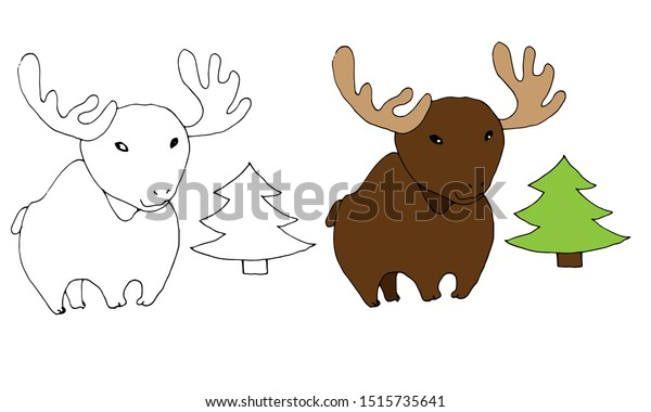Long Legged Moose Coloring Page - Get Coloring Pages | 380x600
