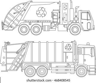 Put All Garbage Inside Truck Coloring Pages - Download & Print ... | 280x323