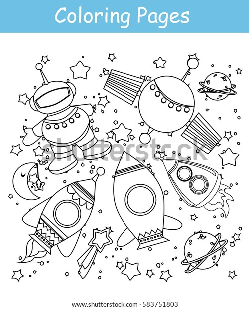 Outer Space Coloring Pages   620x500