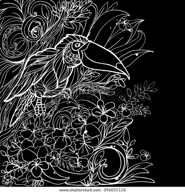 Fun and Pretty Coloring Pages for Adults with Flowers and Leaves ... | 620x593