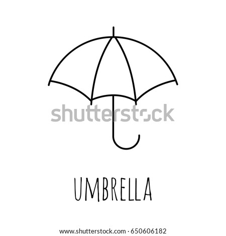 Coloring Pages Umbrella Painting Page Game Stock Vector Royalty
