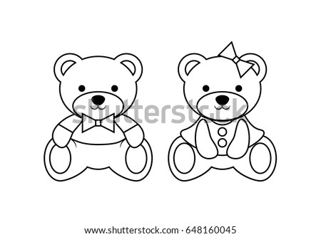 Coloring Pages Wild Animals Outline Cute Stock Vector Royalty Free - Outline-coloring-pages