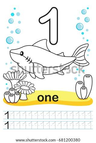 Coloring Printable Worksheet Kindergarten Preschool We Stock Vector