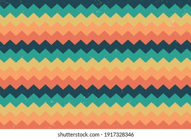 coloring zigzag Vintage background with grunge texture