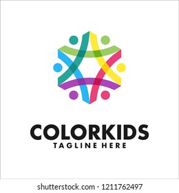 ColorKids is modern logo design for modern company, organisation, brand, social media or everything.  This logo looks good for both digital and print use.