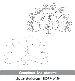 Peacock Drawing Images Stock Photos Vectors Shutterstock