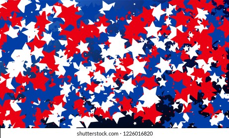 colors of american flag usa independence day invitation background banner christmas