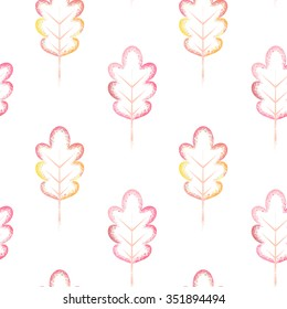 Colors of leaves. Seamless vector pattern