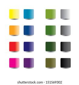 colors palette design. vector illustration