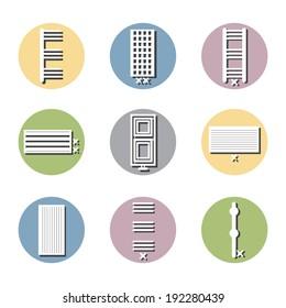 colors radiator icon, vector