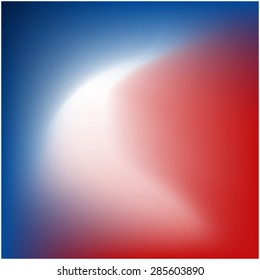 Colors of USA. Red, white and blue gradients.