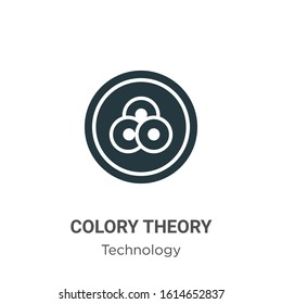 Colory theory glyph icon vector on white background. Flat vector colory theory icon symbol sign from modern technology collection for mobile concept and web apps design.