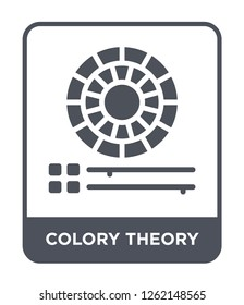 colory theory icon vector on white background, colory theory trendy filled icons from Technology collection, colory theory simple element illustration