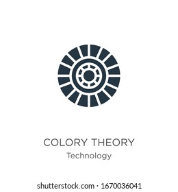 Colory theory icon vector. Trendy flat colory theory icon from technology collection isolated on white background. Vector illustration can be used for web and mobile graphic design, logo, eps10