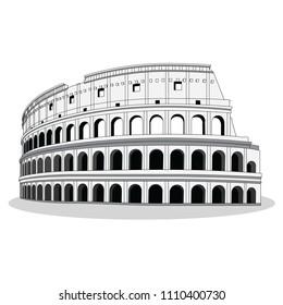 colosseum, rome, vector
