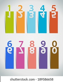Colour Numbers set.Vector illustration.