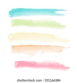 colour paint brush on white background isolate vector illustration eps 10