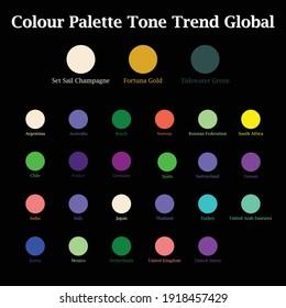 Colour Palette Tone Trend Global