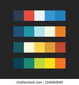 colour palette vector illustration set