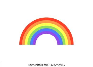 Colour rainbow isolated on white background. LGBT flag. Vector illustration