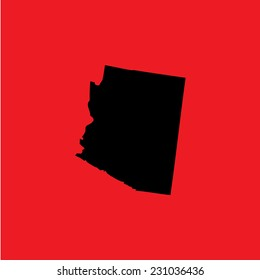 A Coloured background with the shape of the united states state of Arizona