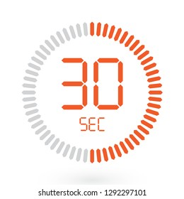 Coloured Digital Countdown Timer Vector Icon. Modern Stopwatch Analog or Digital Timer Illustration.