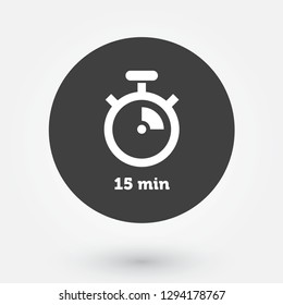 Coloured Digital Countdown Timer Vector Roundel. Modern Stopwatch Analog or Digital Timer Icon.