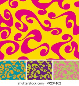 A colourful 60s/70s background with different colour variations.