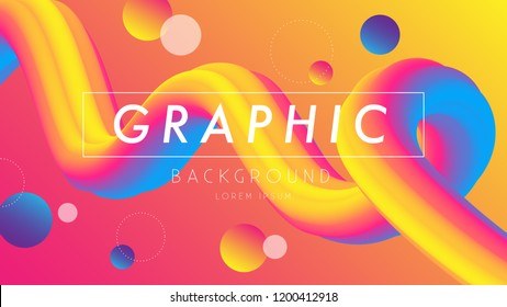 Colourful background, Graphic design, Rainbow wave, EPS 10