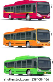 Colourful Bus, Transport, Indian busses, Low floor busses
