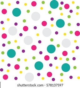 Colourful circle pattern background