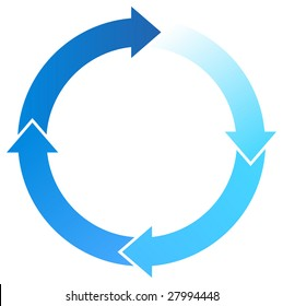 A Colourful Circular Blue Arrow Illustration