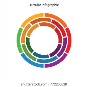 Colourful circular infographic in vector graphics