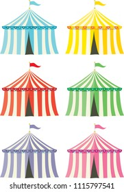 colourful circus tents