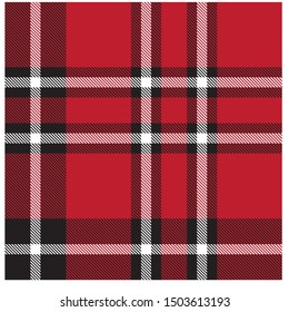 Colourful Classic Modern Plaid Tartan Seamless Print/Pattern in Vector - This is a classic plaid(checkered/tartan) pattern suitable for shirt printing, jacquard patterns, backgrounds, textiles
