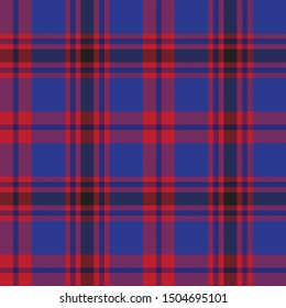 Colourful Classic Modern Plaid Tartan Seamless Print/Pattern in Vector - This is a classic plaid(checkered/tartan) pattern suitable for shirt printing, jacquard patterns, backgrounds