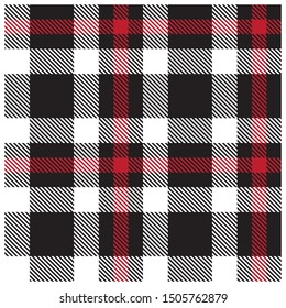 Colourful Classic Modern Plaid Tartan Seamless Print/Pattern in Vector - This is a classic plaid(checkered/tartan) pattern suitable for shirt printing, jacquard patterns, backgrounds and textiles
