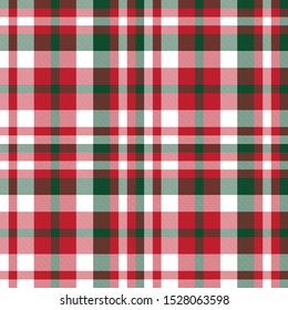 Colourful Classic Modern Plaid Tartan Seamless Print/Pattern in Vector - This is a classic plaid(checkered/tartan) pattern suitable for shirt printing, fabric, textiles, jacquard patterns, backgrounds