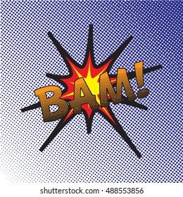 Colourful comic book style explosion vector design