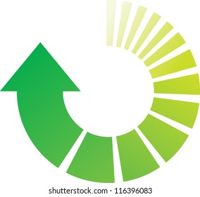 A Colourful Green Vector Circular Arrow Illustration