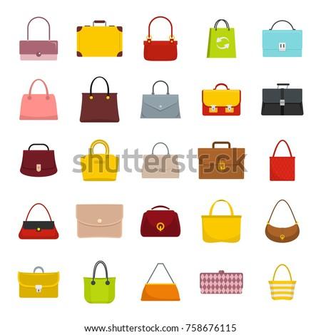 da6db96843 Colourful Ladies Mans Handbags Woman Accessories Stock Vector ...